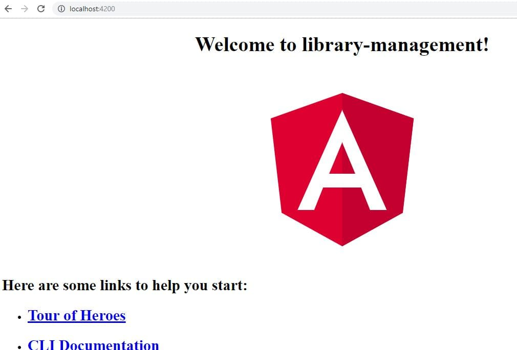 Angular Home Page